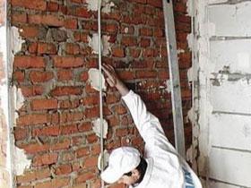 Установка маяков на стену