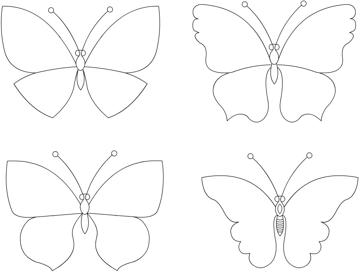 Бабочки на стене эскизы
