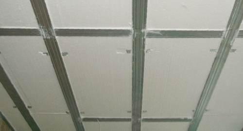 Каркасный способ утепления потолка