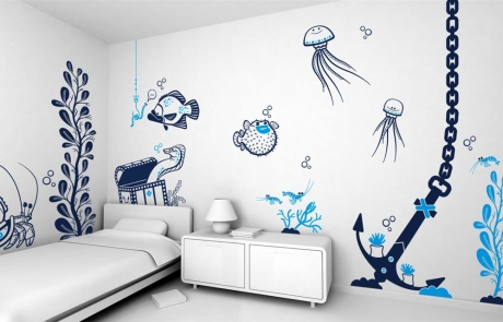 Трафаретная роспись стен