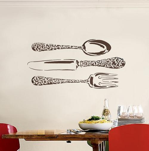 Трафарет для декора кухни