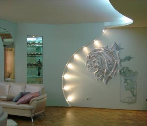Декоративная отделка гипсокартона